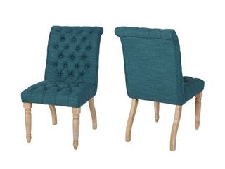 Fieldmaple Tufted Dining Chair  Set of 2  by Christopher Knight Home  Retail 284 49