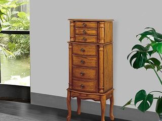 Powell Kimberly Woodland Oak Jewelry Armoire   Retail 346 99