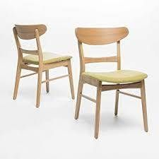 Idalia Mid Century Modern Dining Chairs set of 2 by Christopher Knight Home green tea and natural oak