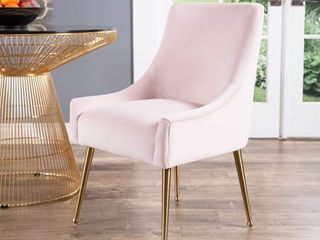 Abbyson Bevie Velvet Dining Chair  Retail 297 82
