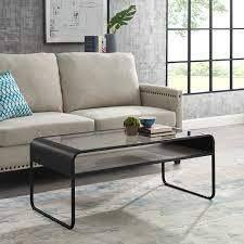 Carbon loft Chertovsky Reversible Shelf Coffee Table  Retail 194 49 Grey wash dark walnut