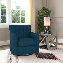 Copper Grove Hasselt Velvet Swivel Arm Chair  Retail 384 49 navy blue