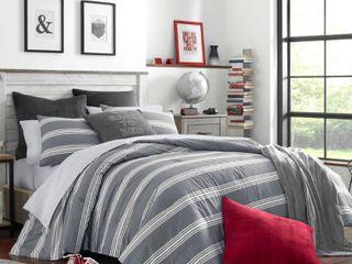 Nautica Craver Grey Cotton Comforter Set  Retail 104 61