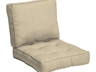 Arden Selections Plush BlowFill 24 x 24 in  Solid leala Outdoor Deep Seat Cushion Set  Retail 99 99