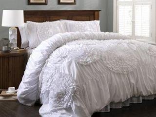 lush decor serena floral comforter set White   King  Retail 153 99