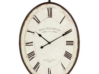 Ines large Oval Wall Clock   36 H x 23 5 W x 1 5 D  Retail 76 45 brown