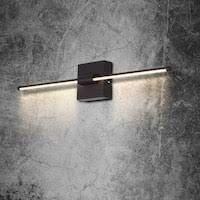Minimalist linear Acrylic Aluminum vanity Wall lamp   l26 38 x W4 72 x H4 72  Retail 156 49 black