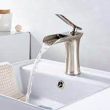 1 Handle Tall Bathroom Sink Faucet in Brushed Nickel  Retail 79 48