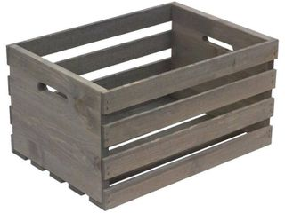 Crates   Pallet large Weathered Gray Wood Crate