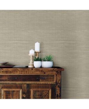 NuWallpaper Wheat Grasscloth Peel   Stick Wallpaper