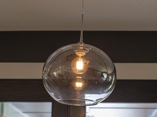 Soares 1 light Glass Globe Pendant