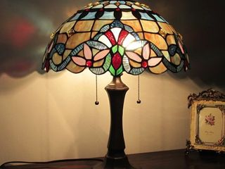 Tiffany Style Victorian Design 2 light Table lamp