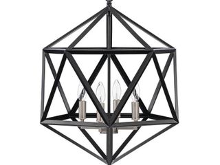 4 light Geometric Cage Chandelier