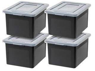 Storage Containers w  lids 4 PACK