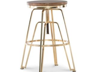 Aimes Wood  amp  Metal Adjustable Stool