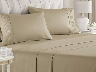 1800TC Brushed Microfiber Sheet Set Cali King Size