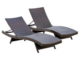 Toscana Outdoor Wicker Chaise lounges by CKH SET OF 2
