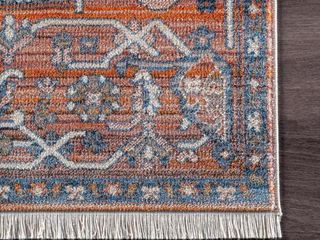 nulOOM Transitional Ombre Duval Medieval Sun Medallion Border Area Rug