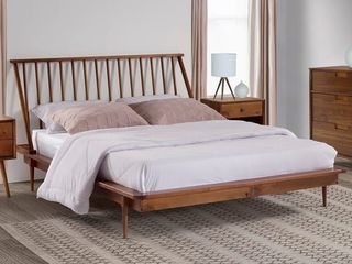 Carson Carrington Blaney Solid Pine Wood Spindle Bed Queen Size