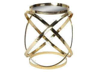 Kate and laurel Marea Metal Mirrored Round Accent Side Table