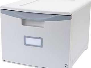 Storex Plastic 1 Drawer File Cabinet