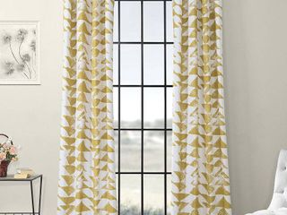 Exclusive Fabrics Triad Grommet Printed Cotton Twill Curtain s