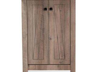 Baxton Studio Derek Wood 2 Door Shoe Cabinet