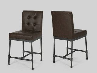 Commonwealth Faux leather Counter Stools by CKH SET OF 2