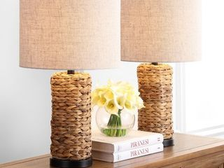 Jonathan Y Elicia Sea Grass led Table lamps by JONATHAN Y SET OF 2