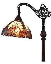 Amora lighting Tiffany Style Arched Vintage Antique Floor lamp