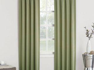 Sun Zero Hayden Energy Saving Blackout Rod Pocket Curtain Panels SET OF 2
