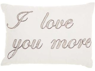 Nourison luminecence I love You More Pewter Throw Pillow