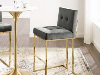 Privy Performance Velvet Bar Stool