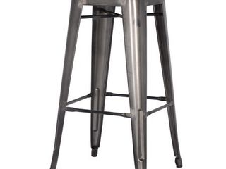 Metropolis PU leather Metal Backless Bar Stools SET OF 4