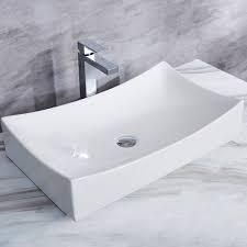 CB HOME Modern Ceramic Basin Rectangular Vessel Sink