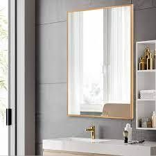 Carbon loft Aluminum Alloy Frame Rectangle Wall Mirror