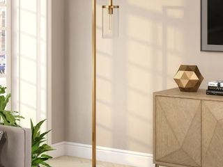 Malva Floor lamp w  Clear Glass