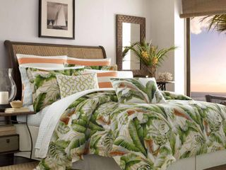 Tommy Bahama Palmiers Duvet Cover Set Full Queen Size
