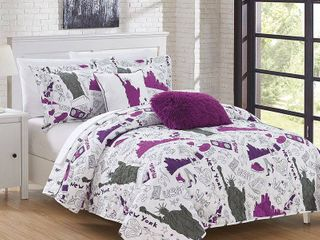 Chic Home New York Quilt Set Full Size