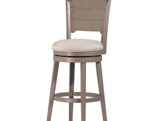 Hillsdale Furniture Clarion Swivel Counter Stool  Distressed Gray