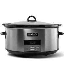 Crockpot slow cooker 8 quart programmable slow cooker with digital countdown timer