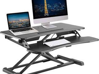 TechOrbits Sit Stand Desktop Workstation