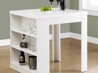 Monarch Specialties I 32 X 36 White Counter Height Dining Table