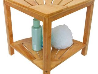 Zhuoyue Corner Shower Bench   Shower Stool with Storage Shelf
