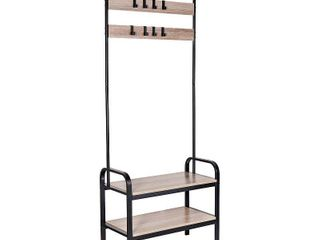 Honey Can Do Entryway Organizer with Hooks and Shoe Storage