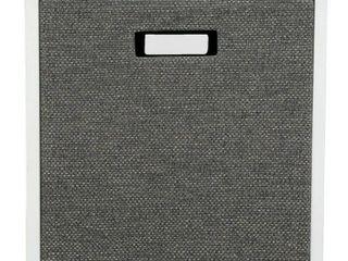 13  Fabric Cube Storage Bin Dark Gray   Threshold