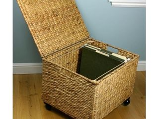 Porch   Den   Westphalian Seagrass Wicker Storage Filing Cabinet   Retail 84 97