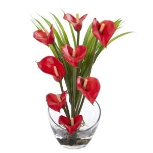 15 5  Calla lily and Grass Artificial Arrangement in Vase   Retail   52 42