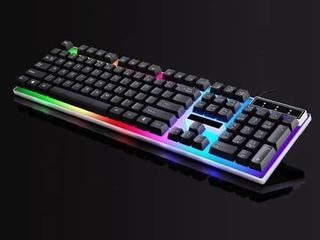 Mechanical lED Colorful Backlight Adjustable Gaming USB Wired Keyboard Black White for Windows 8 Windows 7 Windows Vista   Retail   29 99
