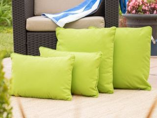 le Pouf Coronado Outdoor Pillow    Set of 4  by Christopher Knight Home Retail   71 29